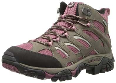 Merrell Women's Moab Mid Waterproof Hiking Boot,Boulder/Blush,5 M US