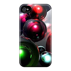 High Quality Shock Absorbing Cases For Iphone 4/4s-3d Space Balls