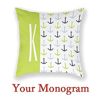 Amazon AntoniaDay Custom Monogram Pillow Girly Monogram Beauteous Monogrammed Decorative Throw Pillows