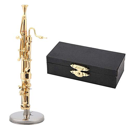 Zerone Miniature Musical Instruments Basson Model Display Mini Ornaments Craft Home Decor(8CM)