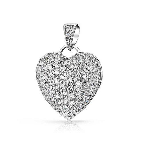 Bling Jewelry pendentif cœur en Oxyde de Zirconium