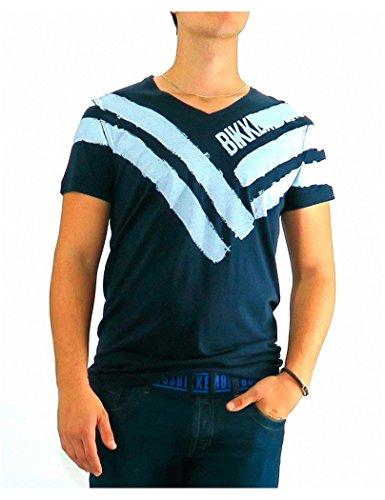 bikkembergs-tshirt-dirk-bikkembergs-five-stripes-xl-blue