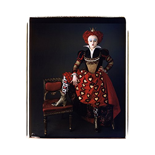 Alice Through the Looking Glass 8x10 Photo Helena Bonham Carter as Red Queen Right Foot Up on Chair Pose 2 kn