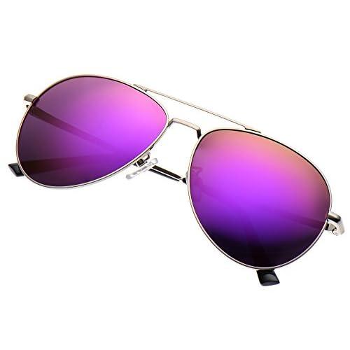 c1bf0884425 LUENX Sunglasses Aviator Polarized for Men   Women with Case - 400 UV  Mirrored 58mm hot