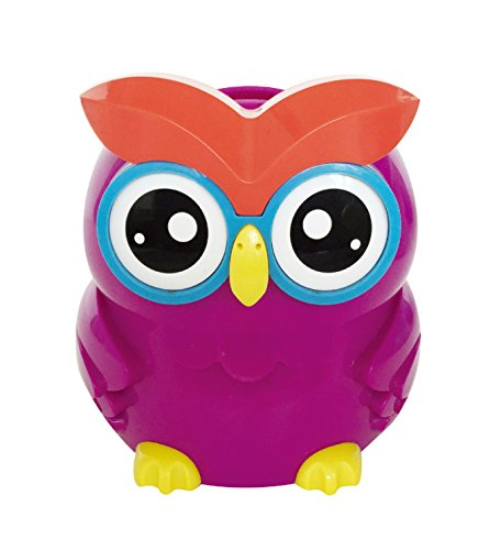 UK STERLING COIN SMART PIGGY BANK DIGITAL COIN BANK AUTOMATICAL COUNTING LCD SCREEN MONEY BOX JAR OWL SHAPE (PURPLE)