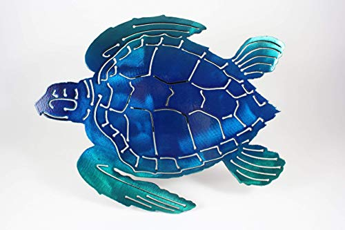 Turtle Hitch Cover Blue and Green
