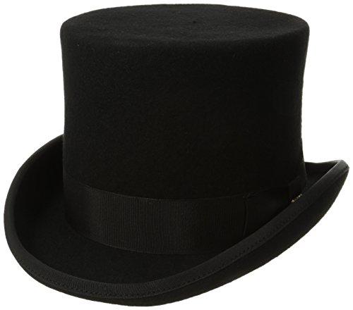 SCALA Classico Men's Wool Felt English Topper Hat (X-Large, Black)