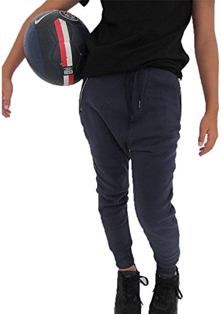 Pantalón de chándal con bolsillo de cremallera, color azul Azul ...
