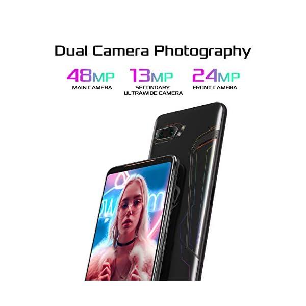 "ASUS ROG Gaming Phone II (ZS660KL-S855P-12G512G-BK) - 6.6"" FHD+ 2340x1080 HDR 120Hz Display - 48MP/13MP Camera – 12GB RAM - 512GB Storage - LTE Unlocked Dual SIM Cell Phone - US Warranty - Black 5"