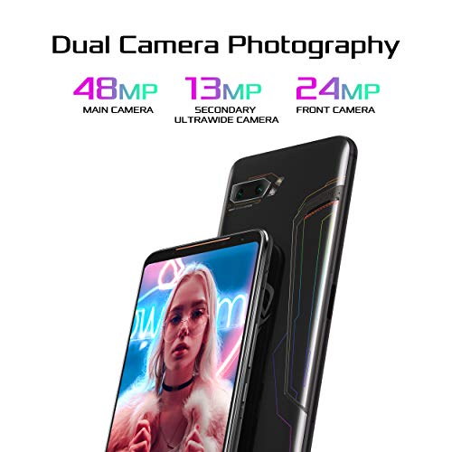"ASUS ROG Phone 2 (New) Unlocked GSM US Version & Warranty, 512GB Storage, 12GB RAM, 6.6"" FHD+ AMOLED 120Hz Display, Snapdragon 855 Plus, No Volte, Gaming Smartphone (ZS660KL-S855P-12G512G-BK) (512GB)"