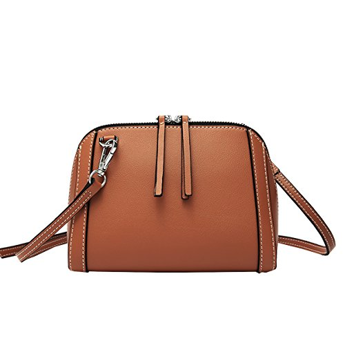 Bag Multiple Brown Handbags Q0983 Shoulder Dissa Soft Leather Pockets Women nF7xI7A0