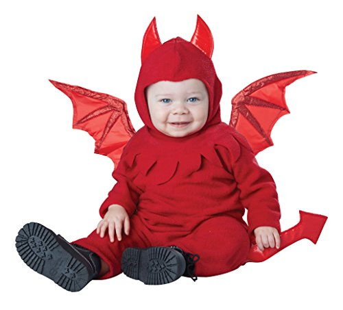 Toddler Boys Devil Costume (California Costumes Baby Lil' Devil Infant, Red, 18 to 24)