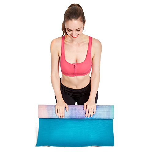"Aimerday Premium Printed 1/4"" Thick Yoga Mat High Density"