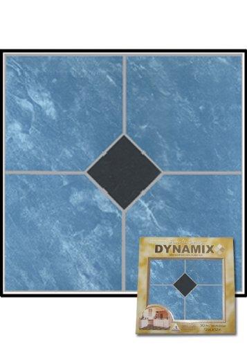 Home Dynamix 23057 Dynamix Vinyl Tile, 12 by 12-Inch, Blue, Box of 20