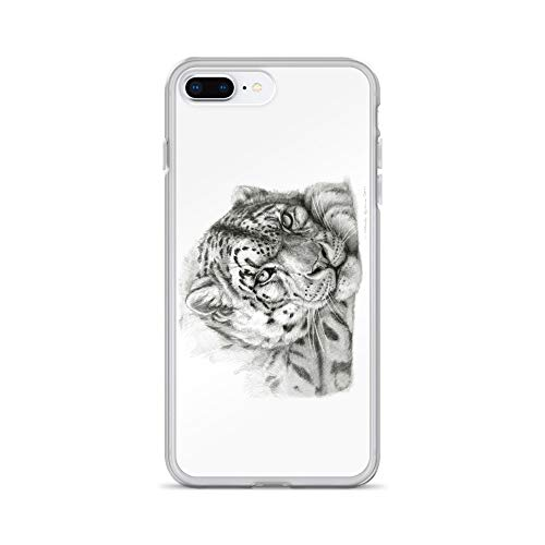 (iPhone 7 Plus/8 Plus Case Anti-Scratch Creature Animal Transparent Cases Cover Snow Leopard G011 Animals Fauna Crystal Clear)