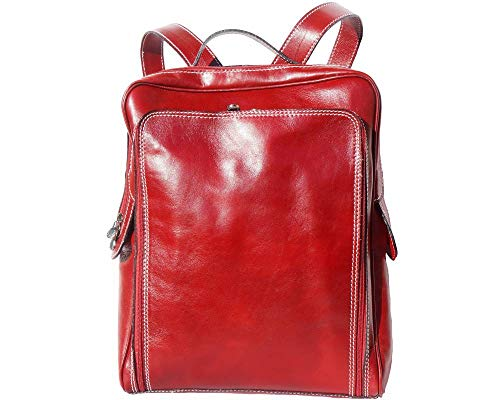 In Dos Modèle Made Superflybags Luxe Italy Palermo Cuir Unisex Xl Rouge De Sac En Véritable À OO4xqTE