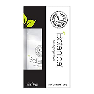 Botanica Anti Ageing cream, Controls wrinkles and fine lines, Non Comedogenic, 50 gm