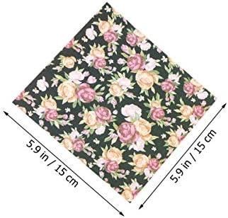 Toyvian 20ピース花折り紙両面折り紙スクエア折りたたみ紙用キッズ学生手芸アートクラフト用品