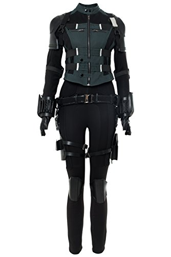 Mutrade Womens Black Agent Soldier Costume Halloween Widow Cosplay Deluxe Outfits,Medium ()