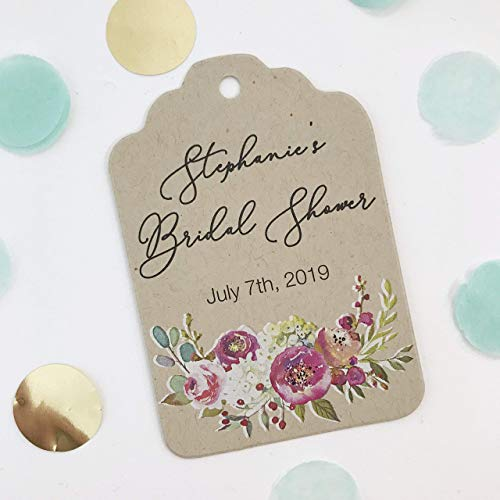 Penelope-Personalized Bridal Shower Hang Tags (ST-379-015-KR-WT-B) ()