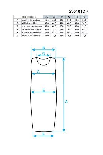 Ennywear 230181 Vestido Mini Estampado Manga Casquillo Escote Redondo Para Mujeres - Hecho En La UE Negro