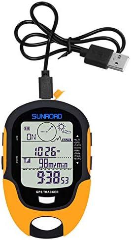 Keenso Altimetro GPS Multifunzione FR510 Altimetro di Navigazione GPS Esterno Bussola Strumento di misurazione dellumidit/à della Temperatura
