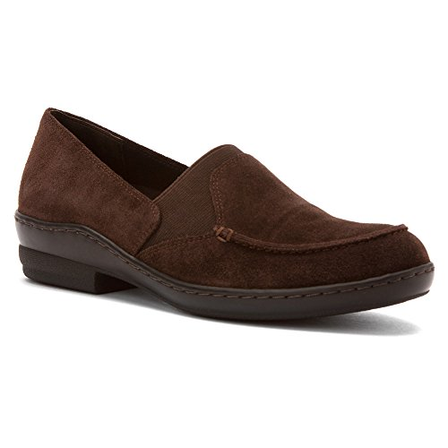 David Tate Women's Stretchy Casual Pumps Brown Suede