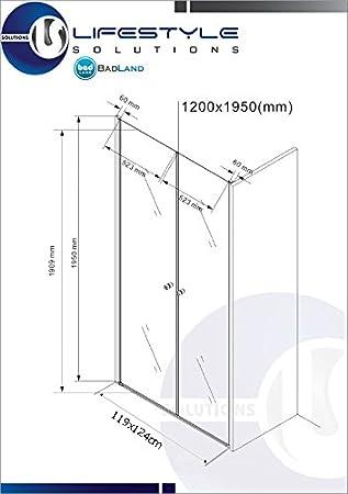 Douche porte Battante 6 mm 75-140cm Variantes Port pour Niche pas de bac de douche Douche Porte Meslina Douche 90x195cm