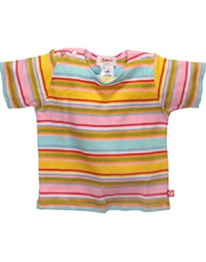 Pink/Aqua Multi Stripe Short Sleeve T-shirt