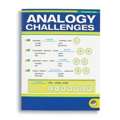 MindWare  Analogy Challenges: Advanced Level  50 Analogy Puzzles  Great for Helping With Standardized Tests  Challenging and Rewarding