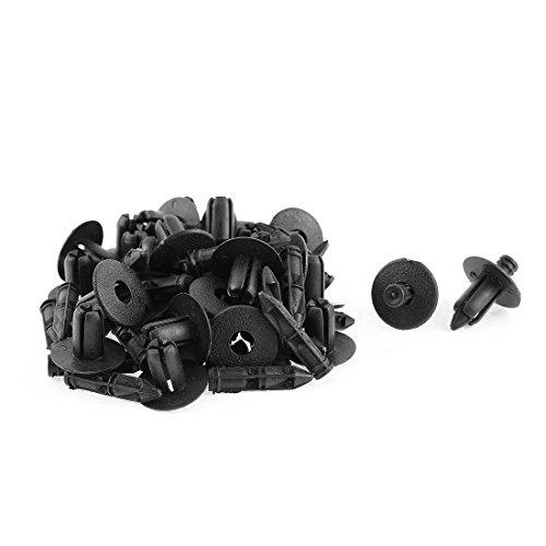 88 30 Pcs Black Plastic Rivet Bumper Mud Interior Weatherstrip Fastener Pack ()