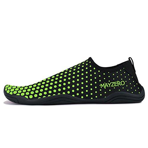 QZBAOSHU Water Shoes Men Women Beach Walking Swim Diving Surf Aqua Sports Shoes 1-green tvldJb4