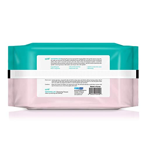 Epielle Assorted 60ct Make-up Remover Cleansing Tissues with Rejuvinating, Moisturizing, and Soothing Formulas | Collagen & Vitamin E, Aloe Vera, Cucumber, Watermelon (4pk) Deep Cleans Pores