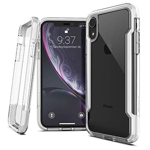 X-Doria iPhone XR Case, Defense Clear Series - Military Grade Drop Protection, Shock Protection, Clear Protective Case for iPhone XR, 6.1 Inch LCD Screen (White)