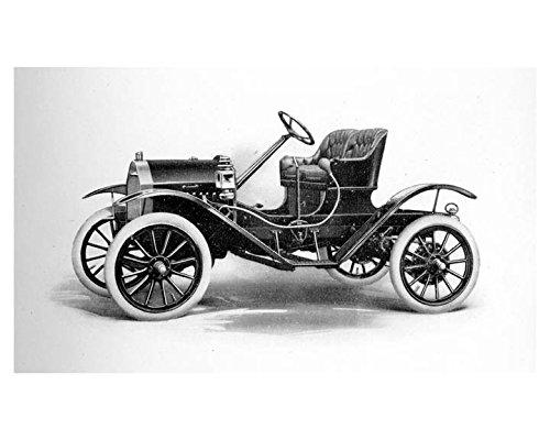 1911 Brush Runabout Model E Automobile Factory Photo -