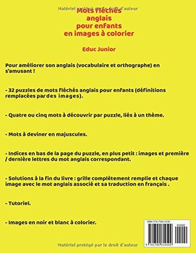 Traduction Du Mot Coloriage En Anglais.Mots Fleches Anglais Pour Enfants En Images A Colorier French