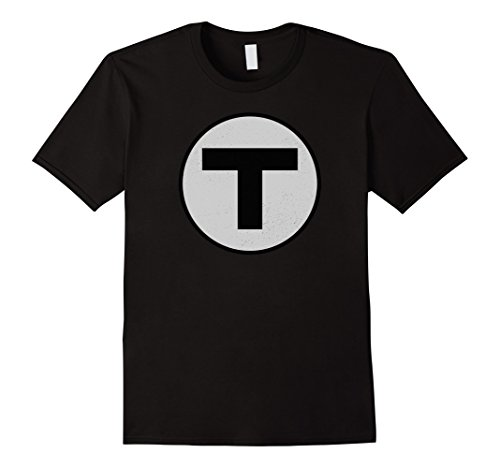 Mens Boston T T-Shirt Vintage MBTA Train Tee 3XL - Map Boston Airport