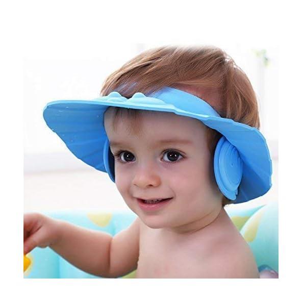 CELEBRATION Soft Adjustable Baby Kids Children Shampoo Bath Bathing Shower Cap Hat Wash Hair Shield Hat Multicolor