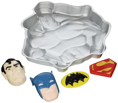 Wilton Superman Batman Super Hero Cake Pan (502-1212, 1977) Retired