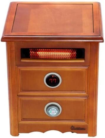 Furniture-Grade Cabinet Dr Infrared Heater DR999 1500W Remote Control Advanced Dual Heating System with Nightstand Design