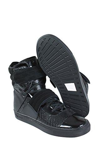 Radii Cilinder Heren Zwart Lederen Hoge Top Riem Sneakers Schoenen