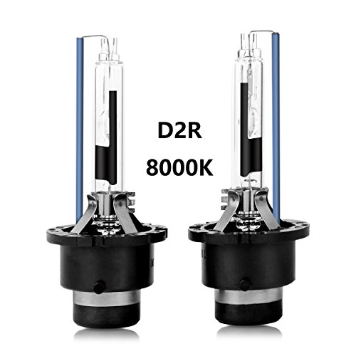 D2R HID Xenon Headlight Replacement Bulbs 35W 8000K High And Low Beam ZRSJ Car Headlights (Pack of two bulbs) - 2 Year Warranty (8000k, D2R)