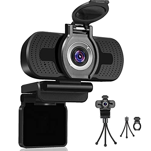 Dericam 720P Webcam with Microphone, USB Computer Web Camera, Plug and Play Desktop and Laptop Webca