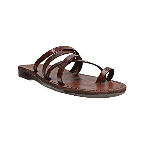 Ariel Lederen Instappers Sandaal Met Teenlus