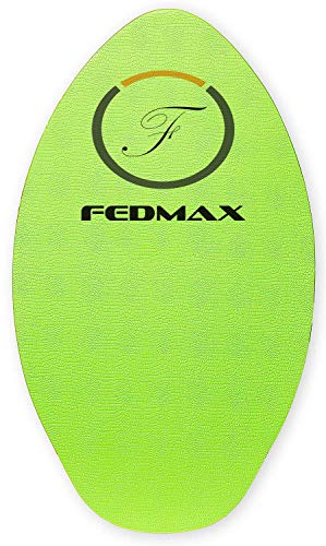 "Fedmax Wood Skimboard with IXPE Foam Traction, No Wax Needed | Green, 41"" (120lbs. - 220lbs.) 