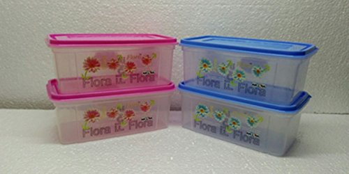 Nayasa Trendy Bread Box – 2000 ml Plastic Food (Pack of 4, Blue & Pink) (4.00)