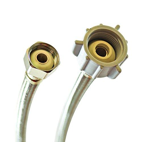 - Fluidmaster B4T12 Toilet Connector, Braided Stainless Steel - 1/2 F.I.P. Thread x 7/8 Female Ballcock Thread, 12-Inch Length