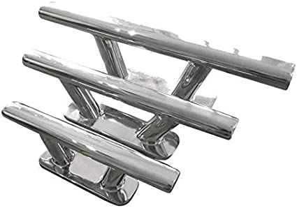Stainless Steel A4-Marine Grade 316 Deck Cleat - 200mm Fixed from Underneath Pack of 2