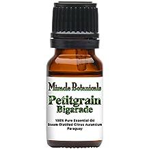 Miracle Botanicals Petitgrain Bigarade Essential Oil - 100% Pure Citrus Aurantium - Therapeutic Grade - 10ml