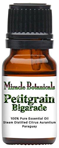 (Miracle Botanicals Petitgrain Bigarade Essential Oil - 100% Pure Citrus Aurantium - Therapeutic Grade - 10ml)